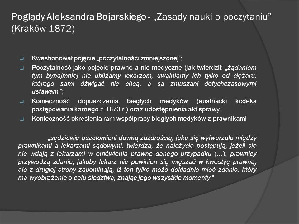 """Poglądy Aleksandra Bojarskiego - """"Zasady nauki o poczytaniu (Kraków 1872)"""