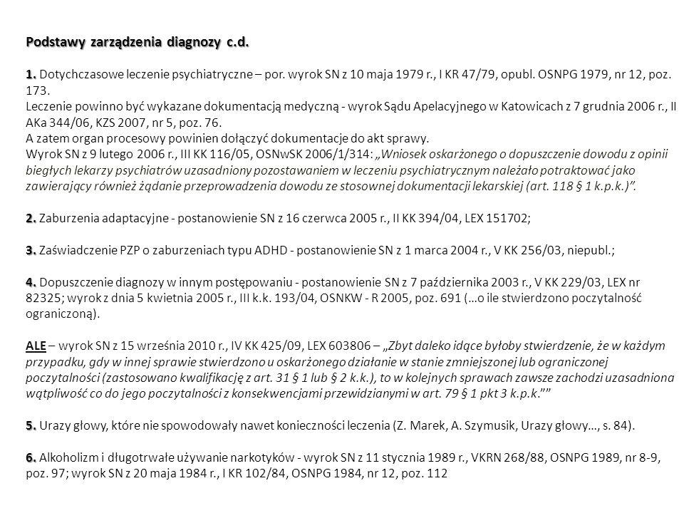 Podstawy zarządzenia diagnozy c. d. 1