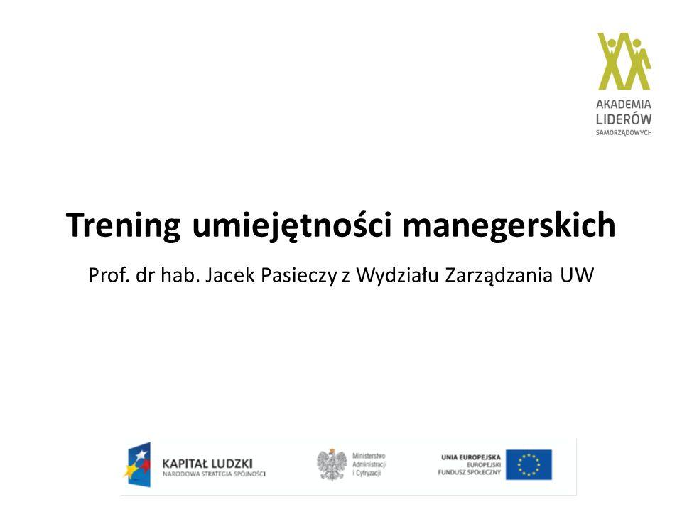 Trening umiejętności manegerskich Prof. dr hab