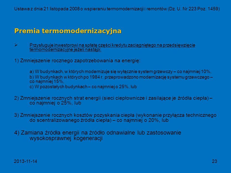 Premia termomodernizacyjna