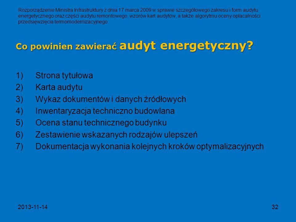 Co powinien zawierać audyt energetyczny
