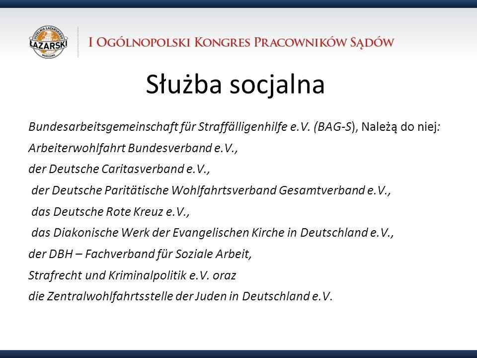 31.10.12 Służba socjalna. Bundesarbeitsgemeinschaft für Straffälligenhilfe e.V. (BAG-S), Należą do niej: