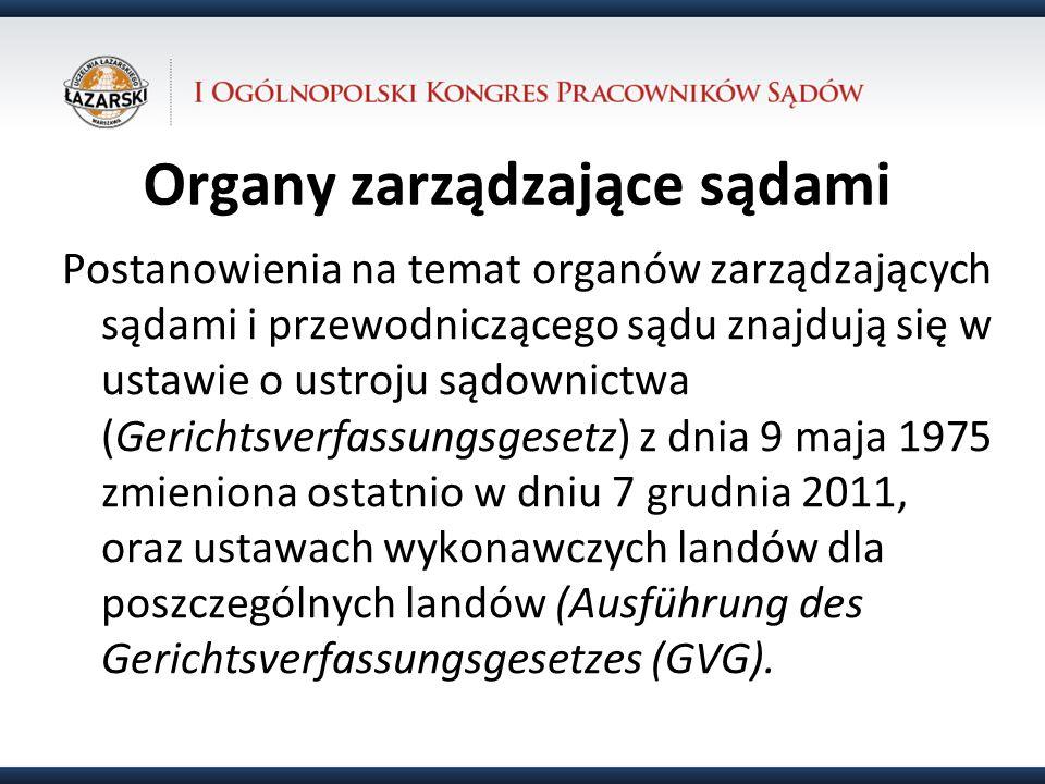 Organy zarządzające sądami