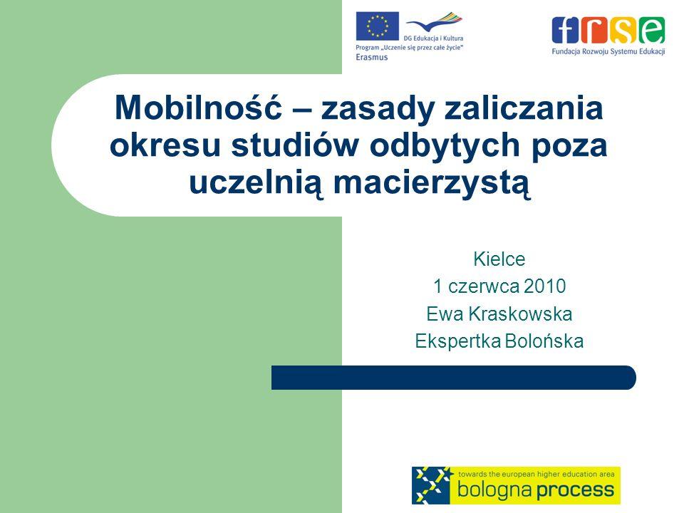 Kielce 1 czerwca 2010 Ewa Kraskowska Ekspertka Bolońska