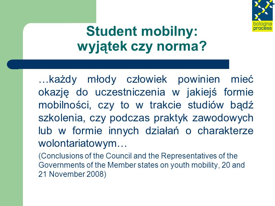 Student mobilny: wyjątek czy norma