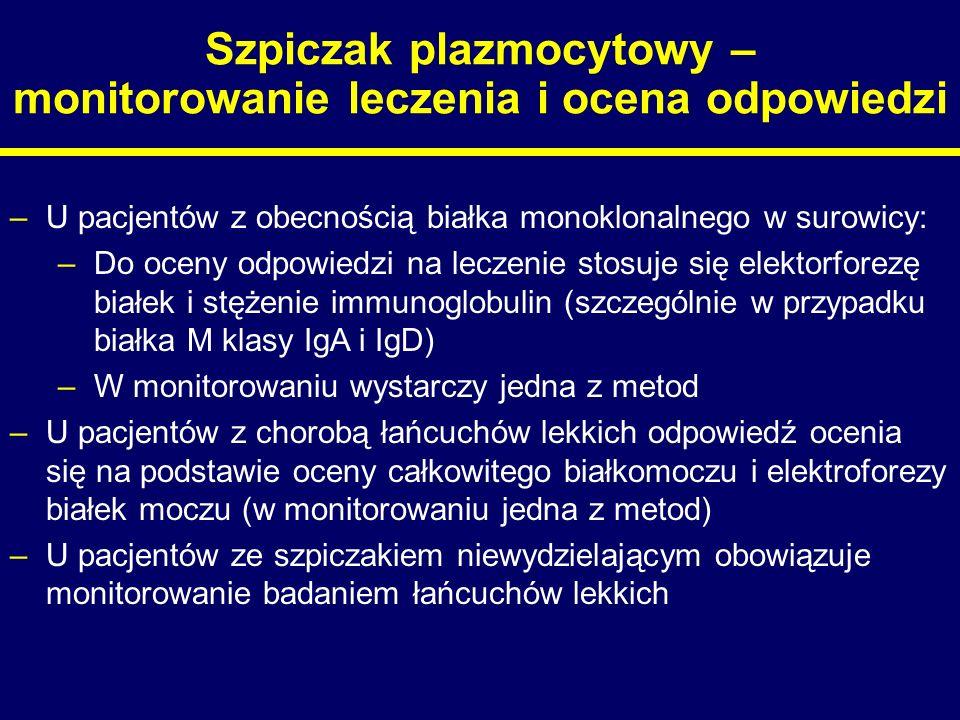 Szpiczak plazmocytowy – monitorowanie leczenia i ocena odpowiedzi