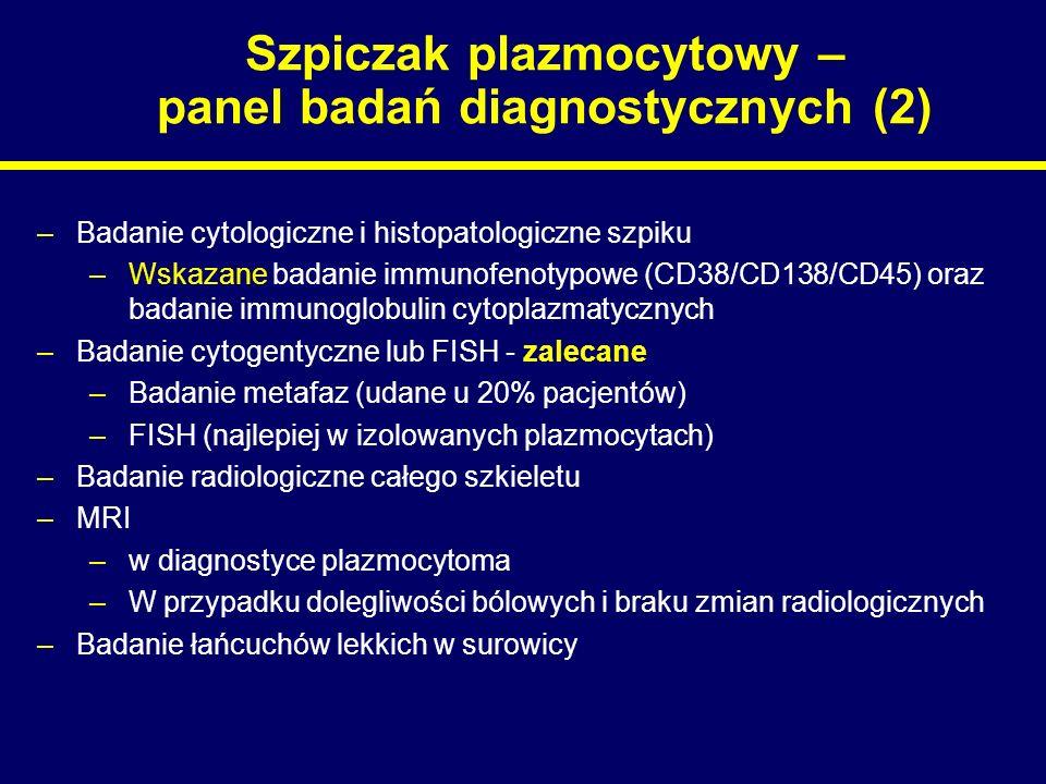 Szpiczak plazmocytowy – panel badań diagnostycznych (2)