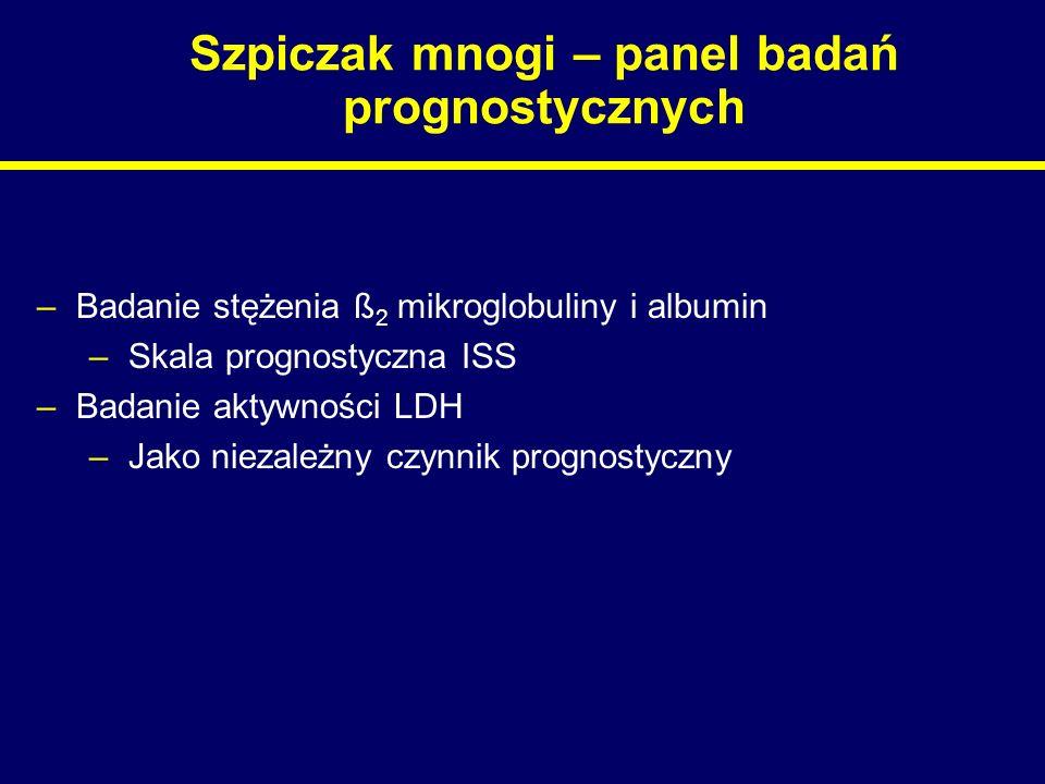Szpiczak mnogi – panel badań prognostycznych