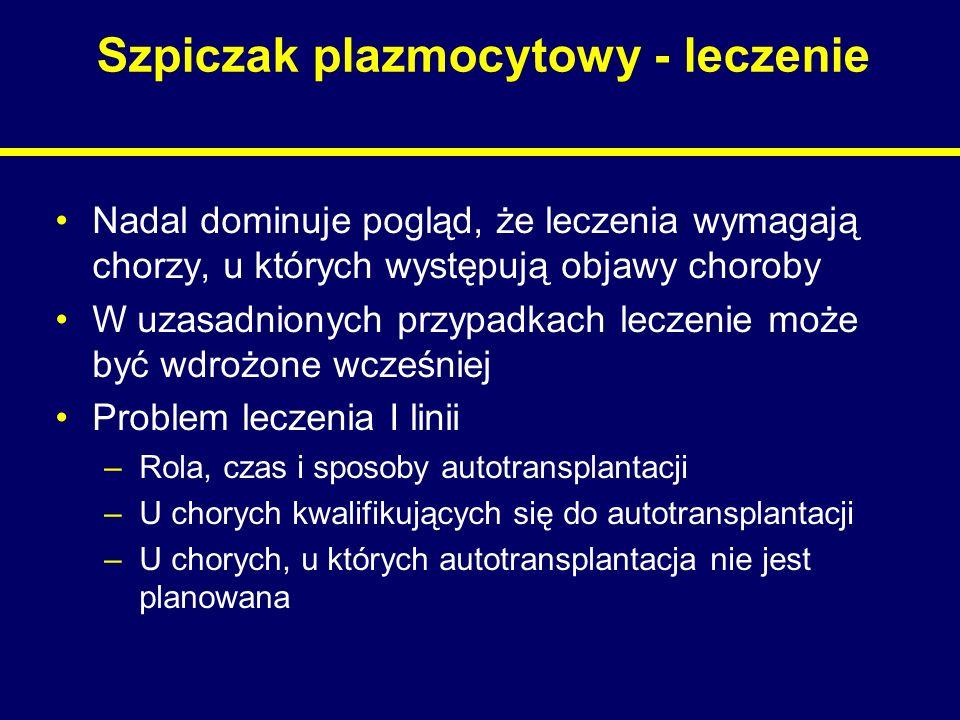 Szpiczak plazmocytowy - leczenie