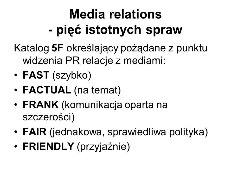 Media relations - pięć istotnych spraw