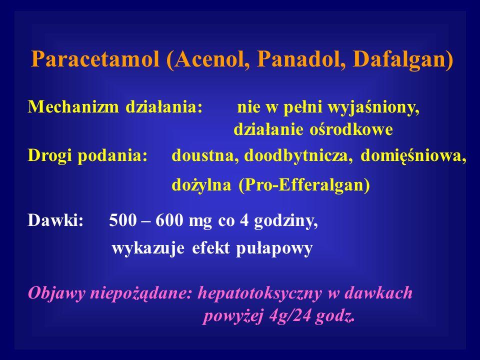 Paracetamol (Acenol, Panadol, Dafalgan)