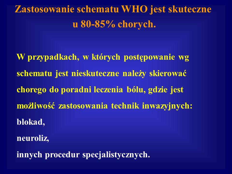 Zastosowanie schematu WHO jest skuteczne