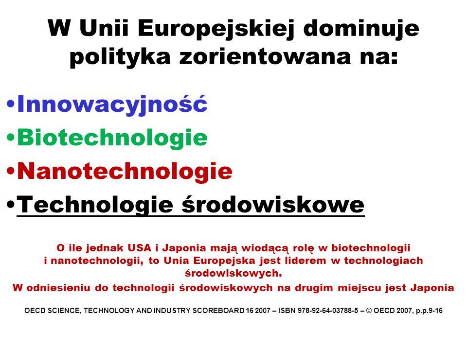 W Unii Europejskiej dominuje polityka zorientowana na: