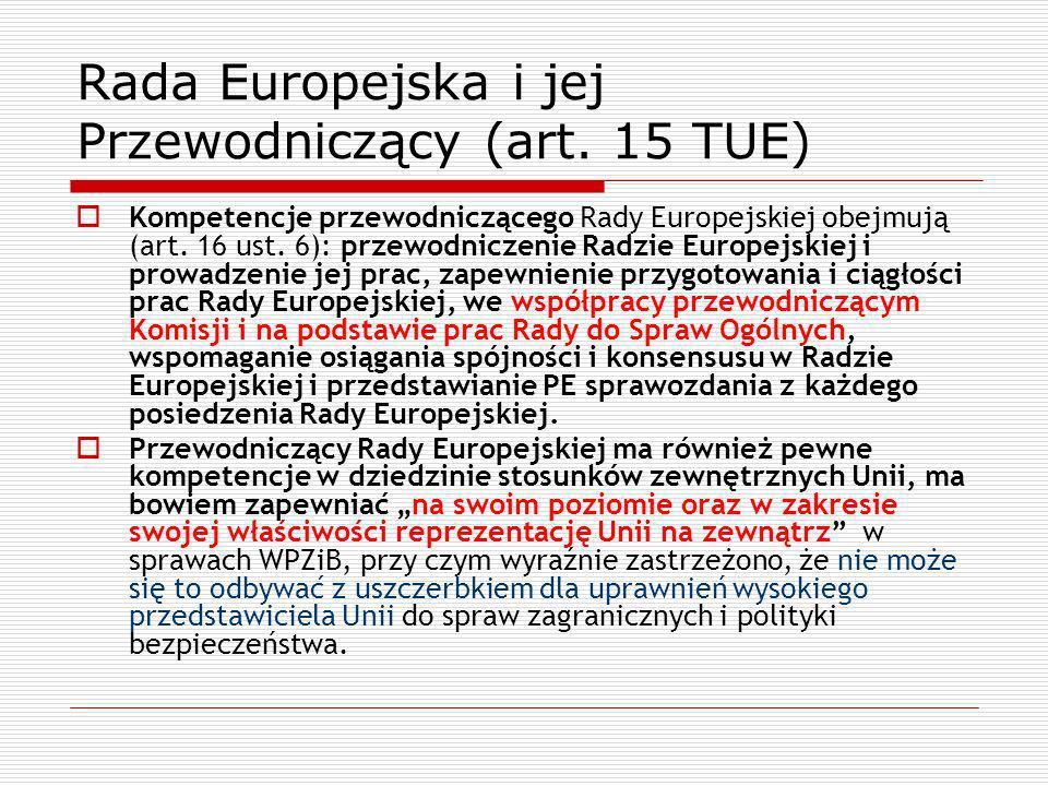 Rada Europejska i jej Przewodniczący (art. 15 TUE)