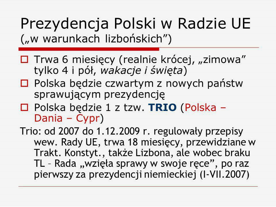 """Prezydencja Polski w Radzie UE (""""w warunkach lizbońskich )"""