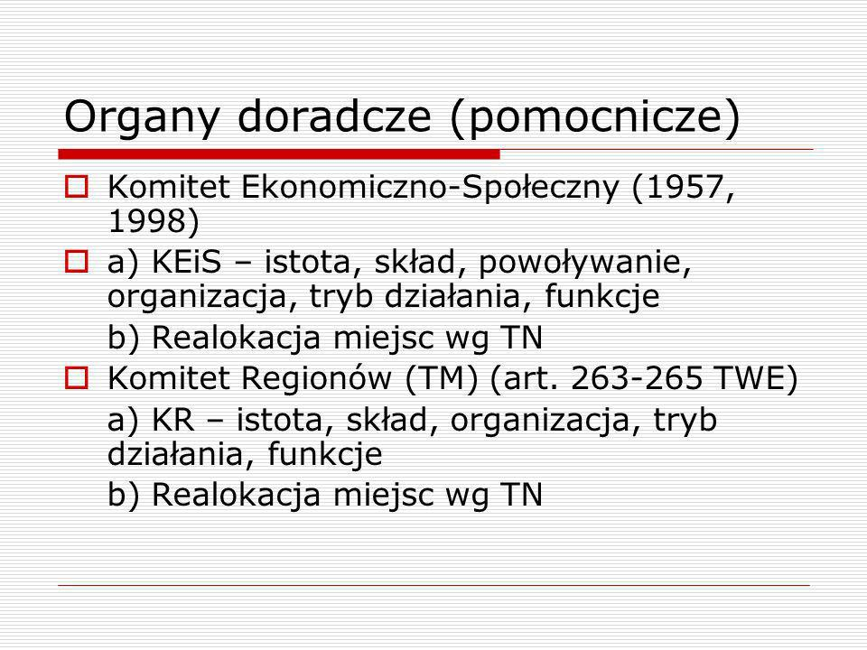 Organy doradcze (pomocnicze)