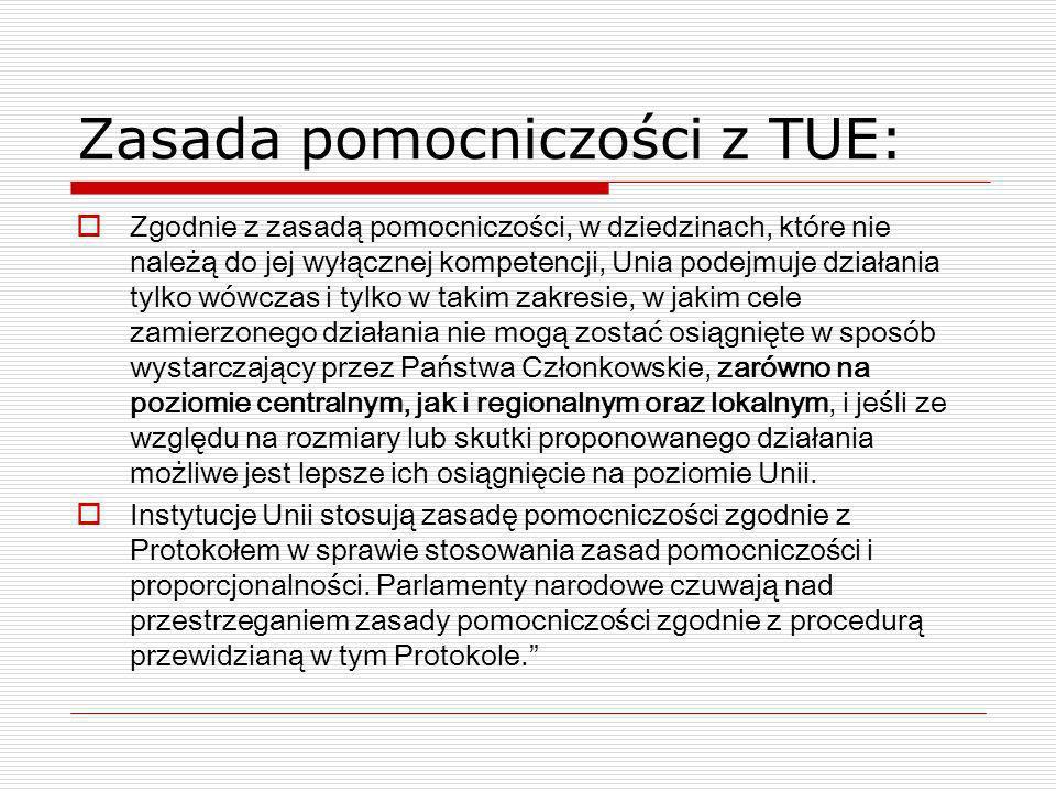Zasada pomocniczości z TUE:
