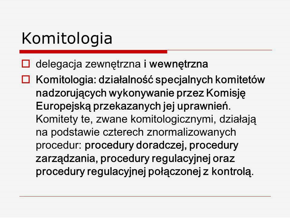 Komitologia delegacja zewnętrzna i wewnętrzna