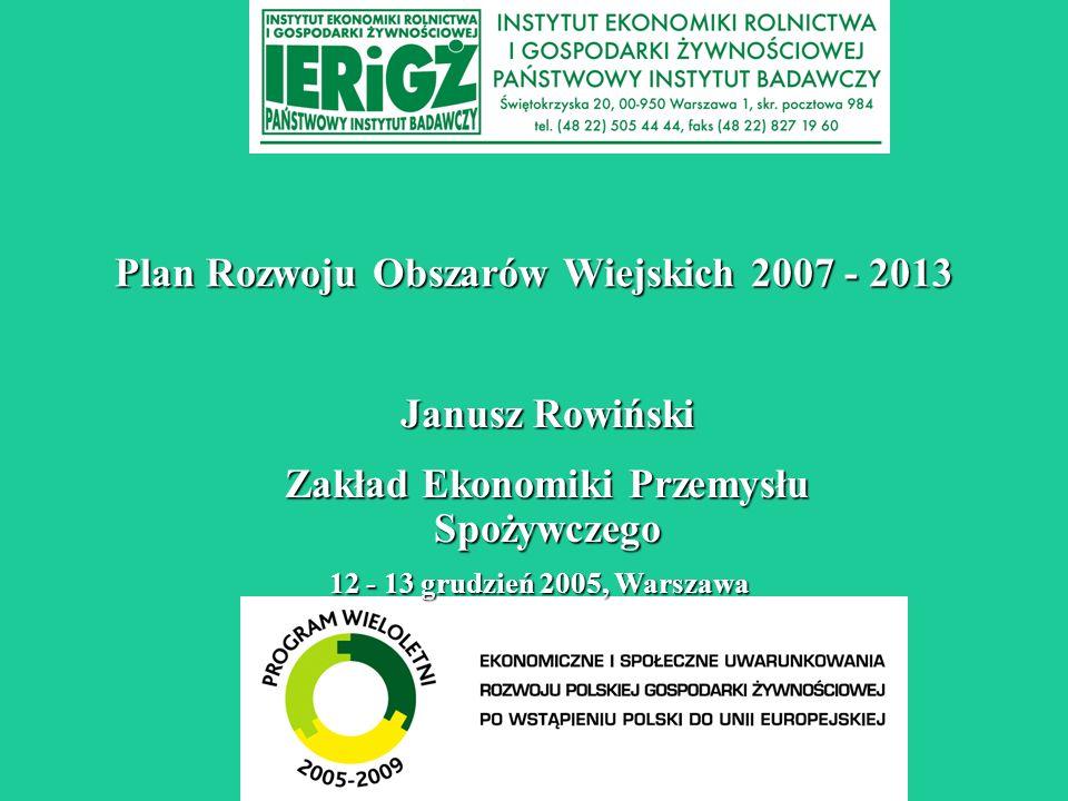 Plan Rozwoju Obszarów Wiejskich 2007 - 2013
