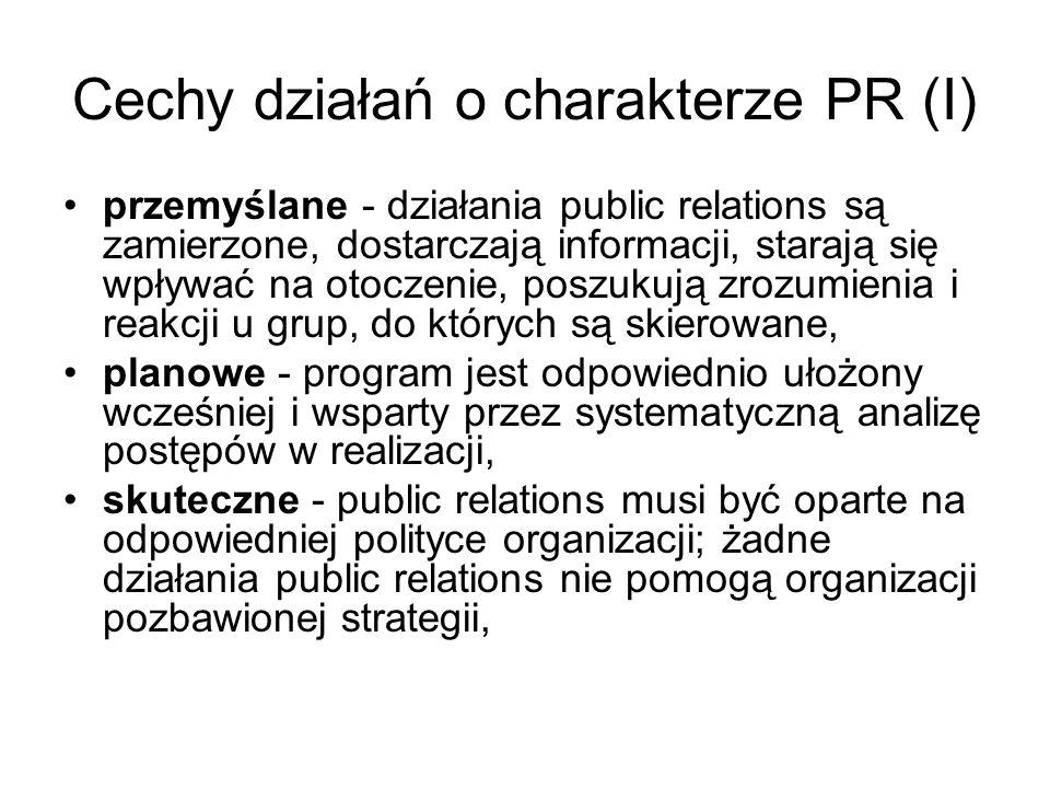 Cechy działań o charakterze PR (I)