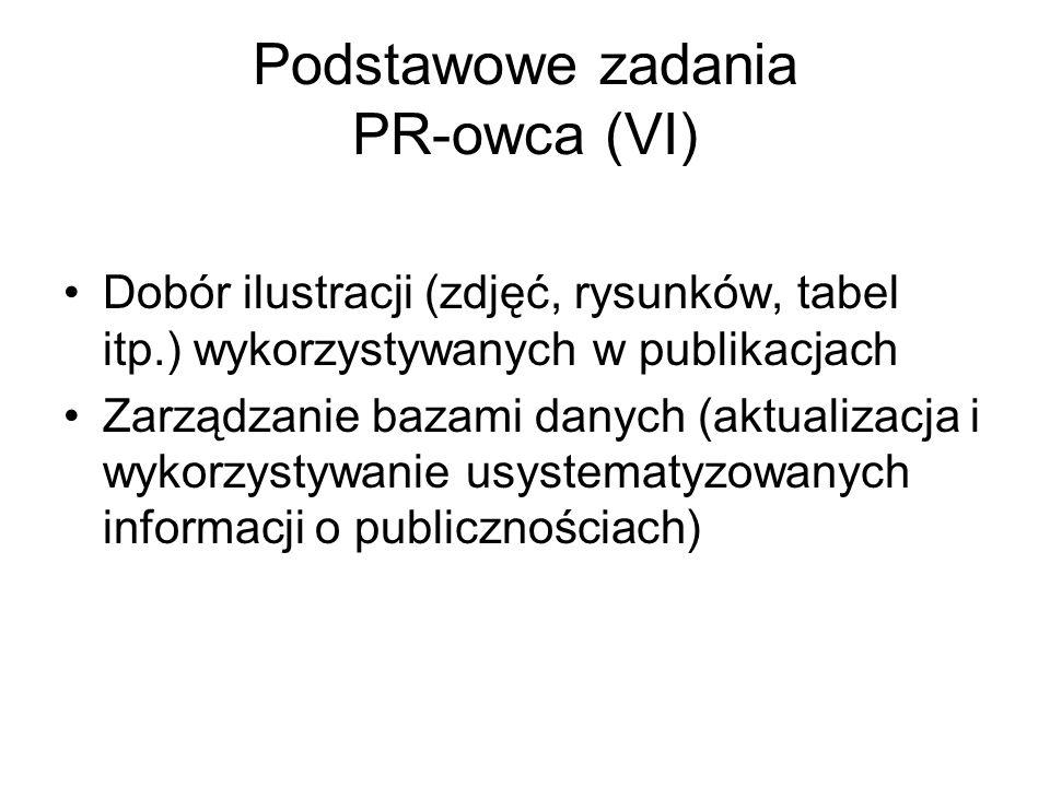 Podstawowe zadania PR-owca (VI)