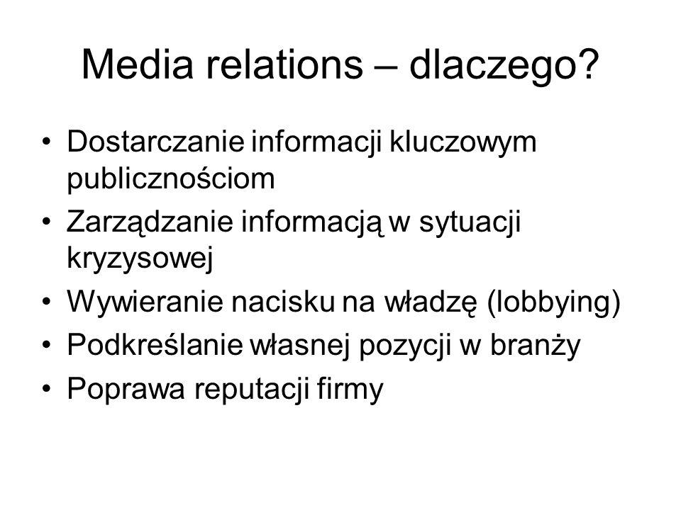 Media relations – dlaczego