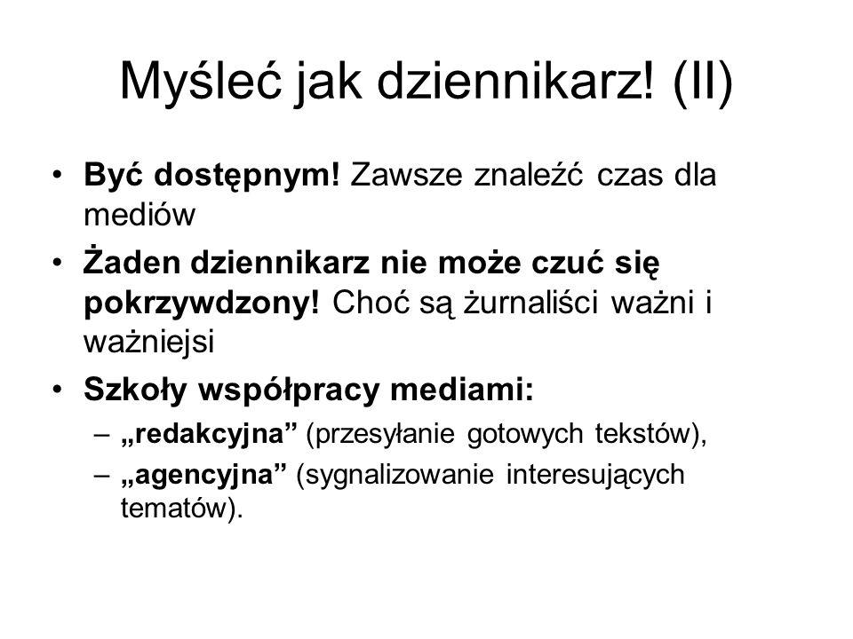 Myśleć jak dziennikarz! (II)