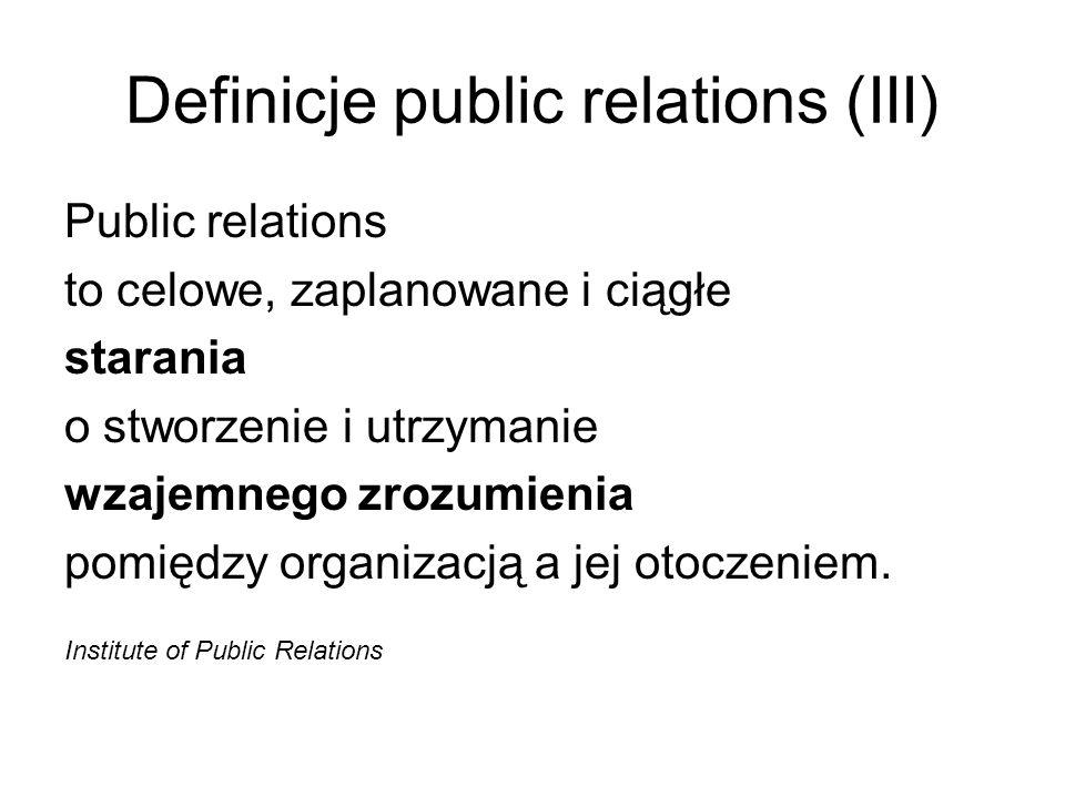 Definicje public relations (III)