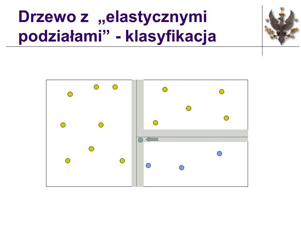 """Drzewo z """"elastycznymi podziałami - klasyfikacja"""