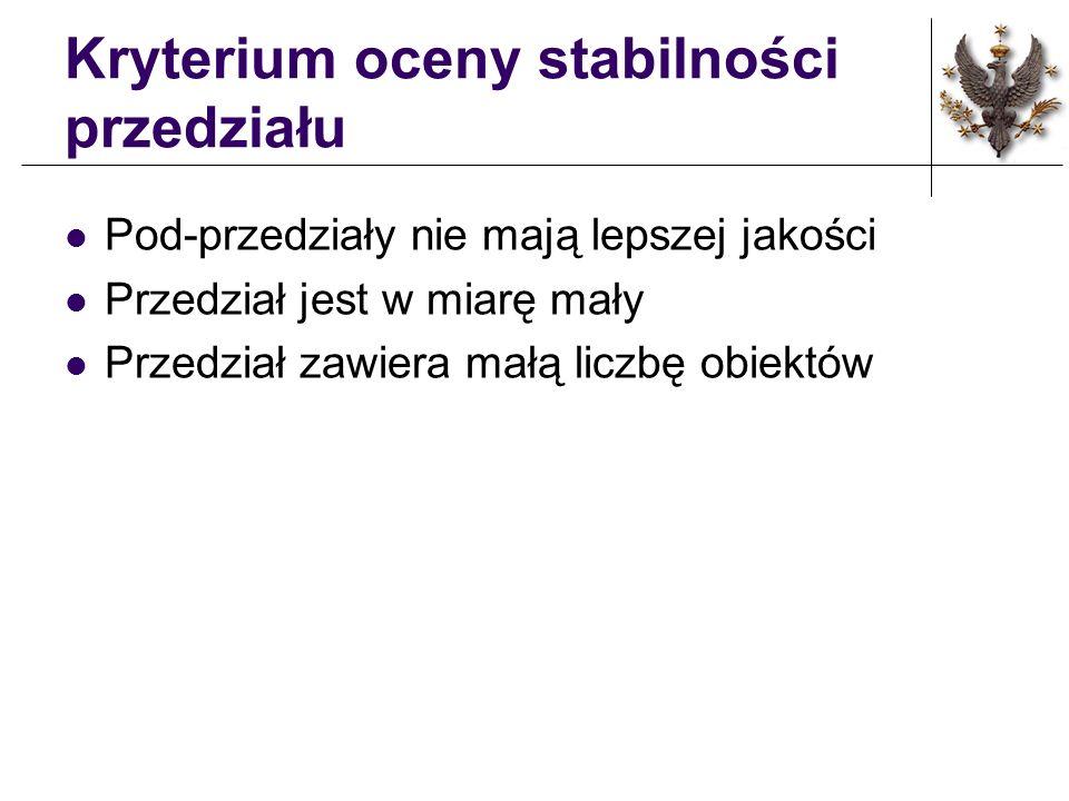 Kryterium oceny stabilności przedziału
