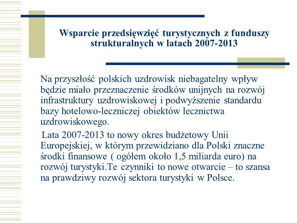 Wsparcie przedsięwzięć turystycznych z funduszy strukturalnych w latach 2007-2013
