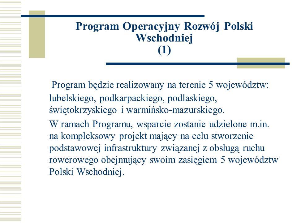 Program Operacyjny Rozwój Polski Wschodniej (1)