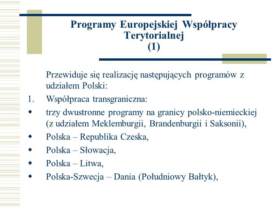 Programy Europejskiej Współpracy Terytorialnej (1)