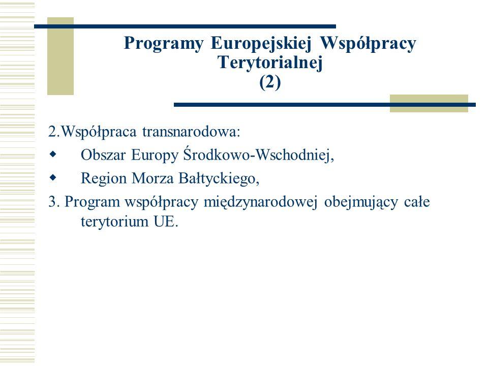 Programy Europejskiej Współpracy Terytorialnej (2)