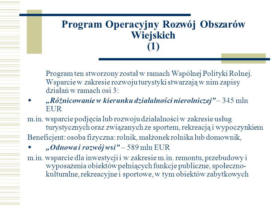 Program Operacyjny Rozwój Obszarów Wiejskich (1)