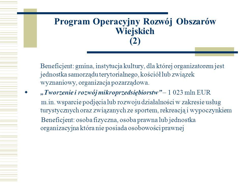 Program Operacyjny Rozwój Obszarów Wiejskich (2)