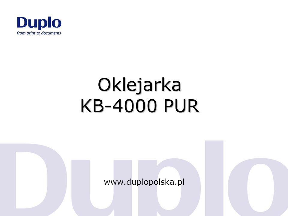 Oklejarka KB-4000 PUR www.duplopolska.pl