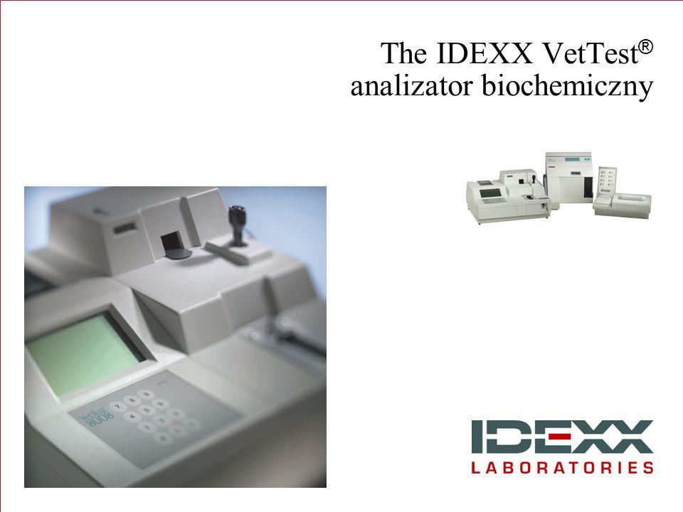 The IDEXX VetTest® analizator biochemiczny