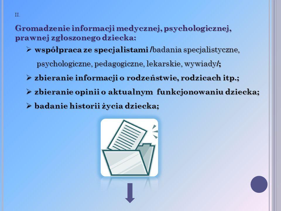 współpraca ze specjalistami /badania specjalistyczne,