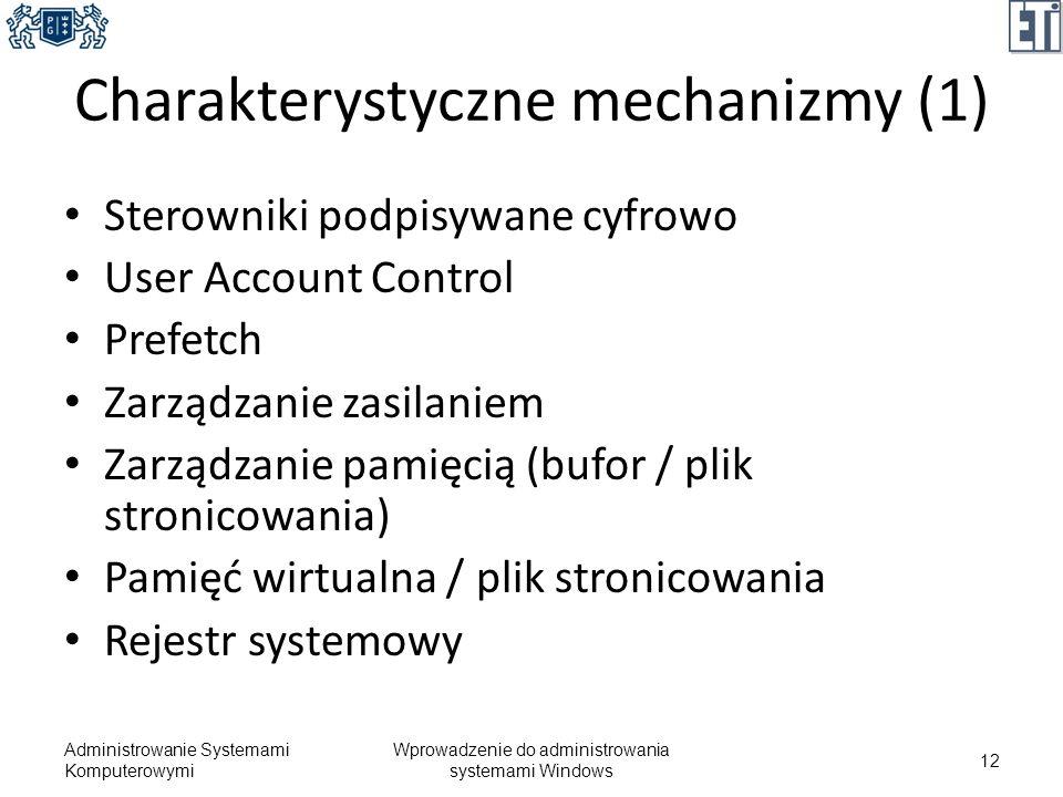 Charakterystyczne mechanizmy (1)