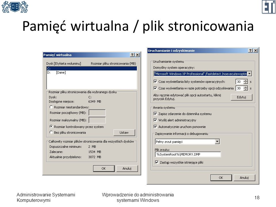 Pamięć wirtualna / plik stronicowania