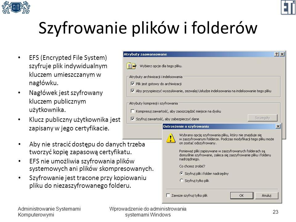 Szyfrowanie plików i folderów