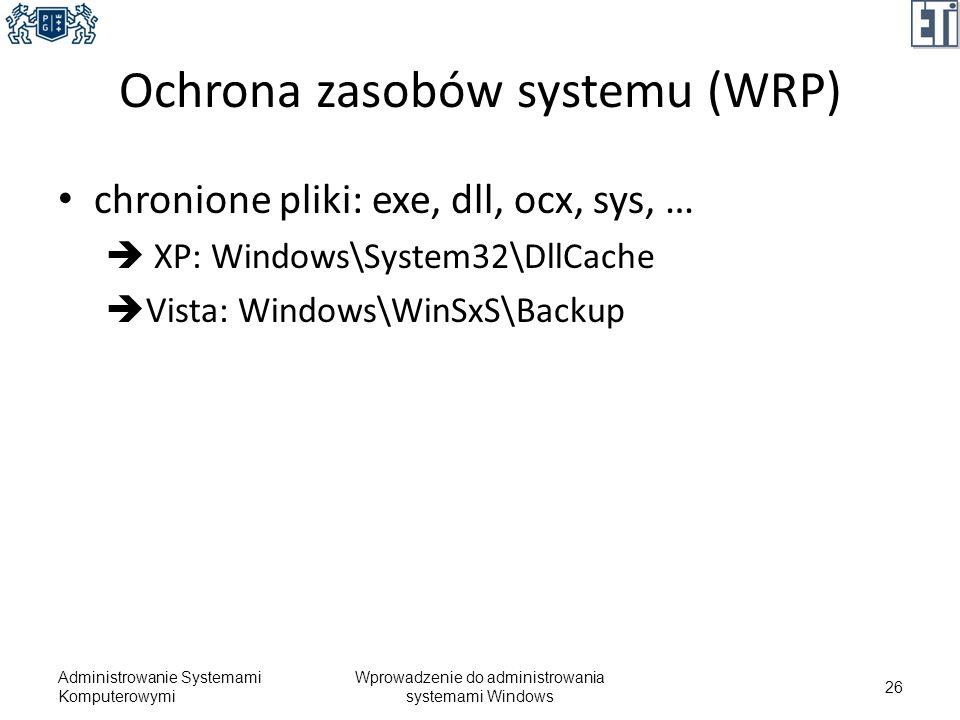 Ochrona zasobów systemu (WRP)