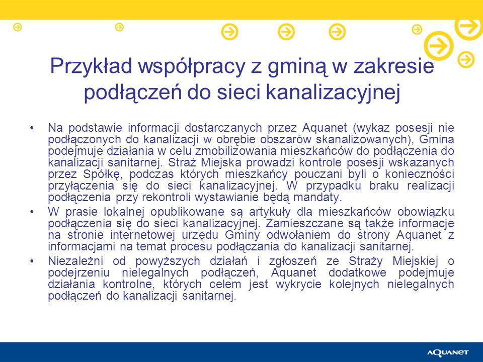 Przykład współpracy z gminą w zakresie podłączeń do sieci kanalizacyjnej