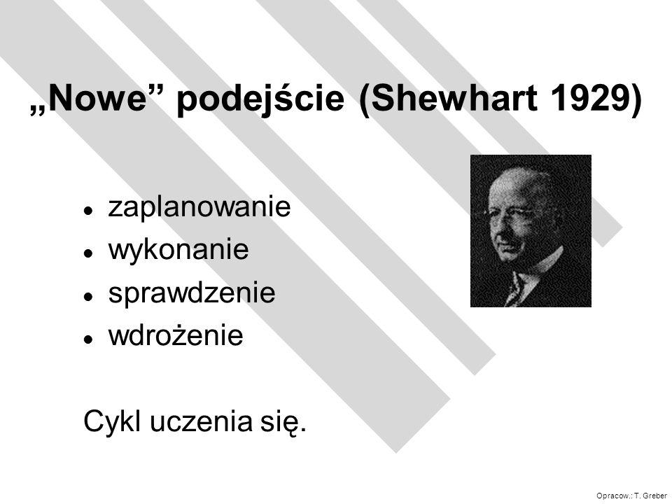 """""""Nowe podejście (Shewhart 1929)"""