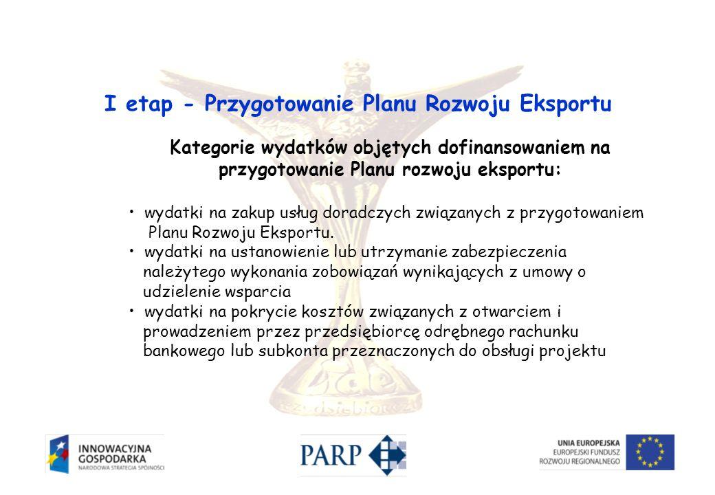 I etap - Przygotowanie Planu Rozwoju Eksportu