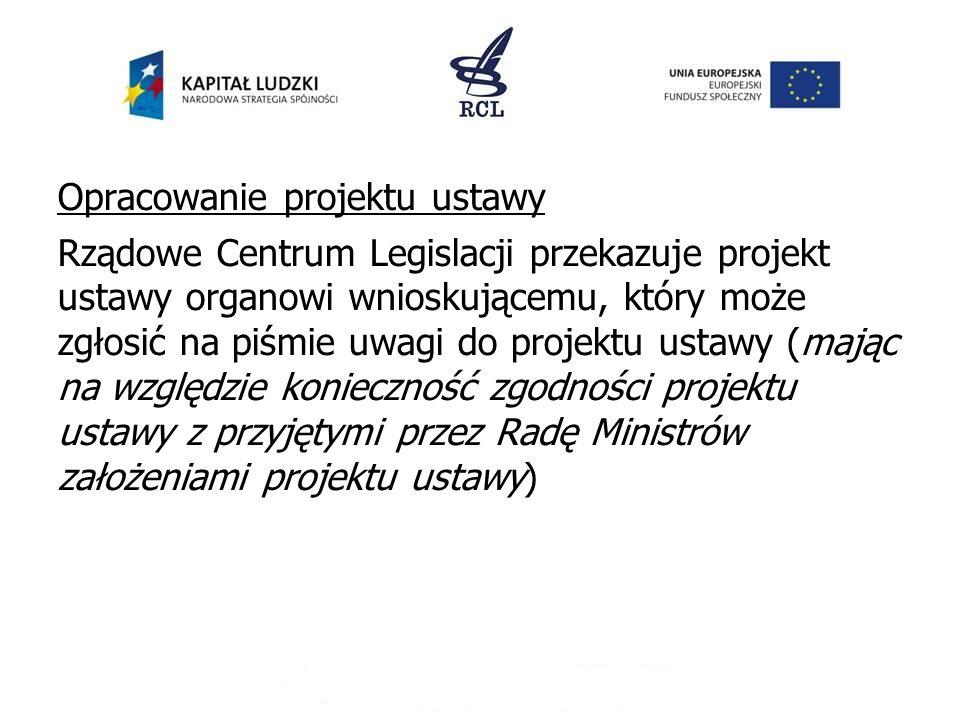 Opracowanie projektu ustawy