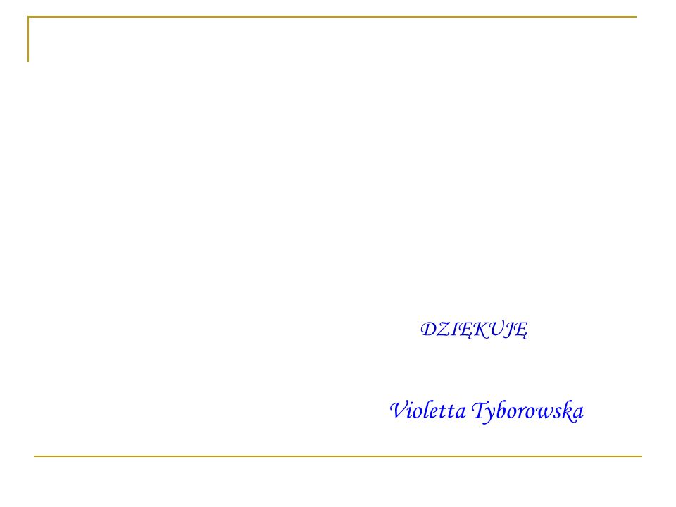 DZIĘKUJĘ Violetta Tyborowska