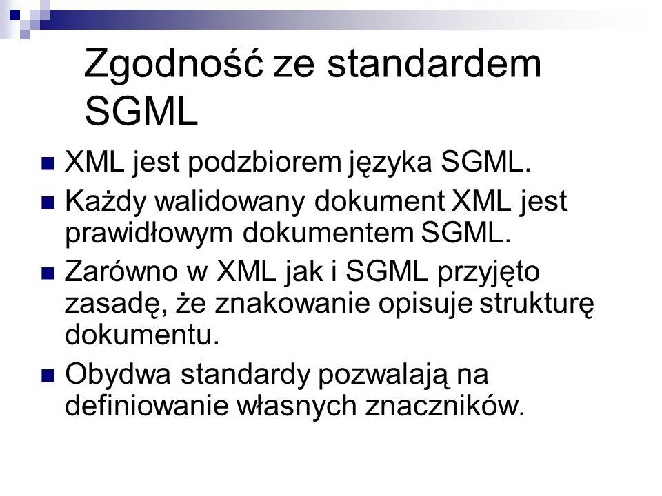 Zgodność ze standardem SGML