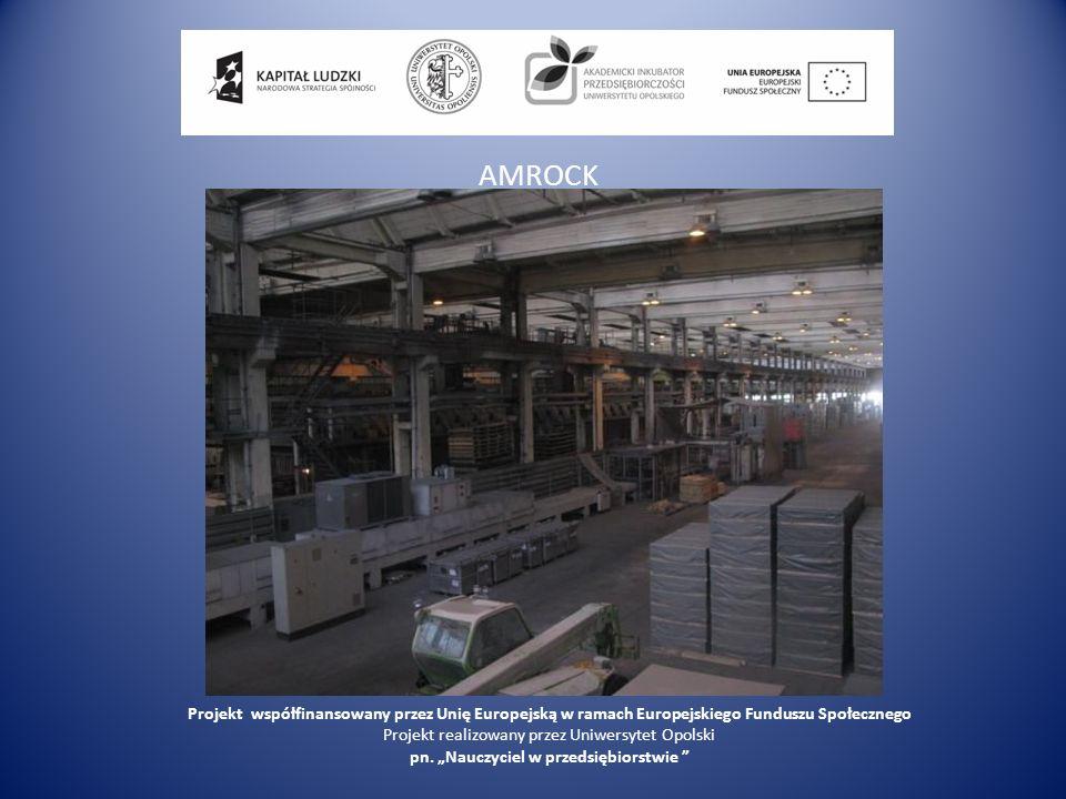 AMROCK Projekt współfinansowany przez Unię Europejską w ramach Europejskiego Funduszu Społecznego.